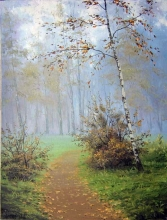 Trail in the Park - oil, canvas
