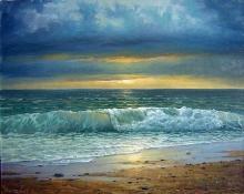 Seashore - oil, canvas