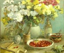 Chrysanthemums - oil, canvas