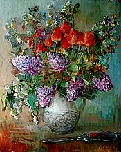Bouquet - oil, canvas