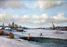 Winter - oil, canvas