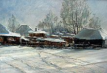 Siberian Frosts - oil, canvas