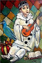 Pierrot - oil, canvas