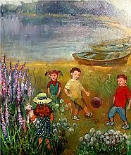 Children - oil, canvas