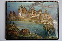 The Great Rostov - a box, Fedoskino lacquer painting technique