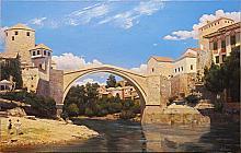 Bosnia And Herzegovina - oil, canvas