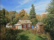 Yard In Mezmay - oil, canvas