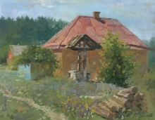 A Well In The Vicinity In Ostroverkhovka - oil, canvas