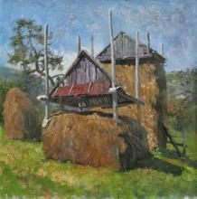 Hay - oil, canvas