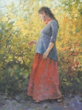 May In Blossom - oil, canvas