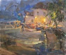 A Cozy Evening - oil, canvas
