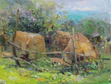Haystacks In Borgustan - oil, canvas