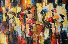 Spring Snowfall - oil, canvas