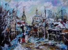 Russian Winter - oil, canvas