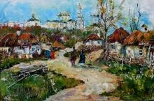 Ukrainian Landscape - oil, canvas