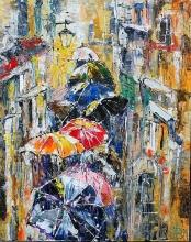 Colorful Rain - oil, canvas
