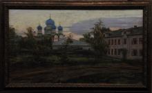 View Of Bogoyavlensky Monastery - carton, pastel, gouache, acrylic