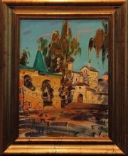 At Vysotsky Monastery - oil, canvas