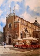 Roman Catholic Church - watercolors, paper