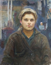 Worker - oil, canvas